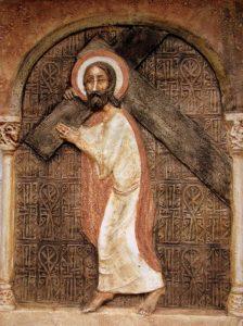 Jézus vállára veszi a keresztet