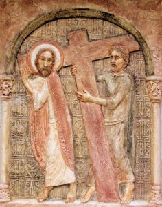 Cireinei Simon segít a keresztet hordozni