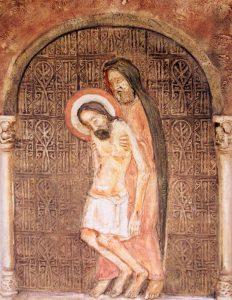 Jézus testét leveszik a keresztről